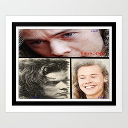 Harry Styles, One Direction, 1D, 1dFanArt Art Print