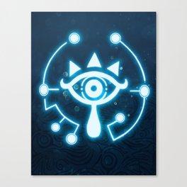 The blue eye Canvas Print