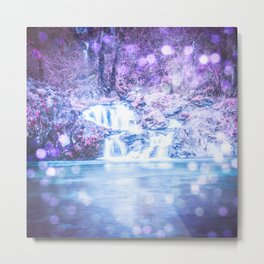 Mermaid Waterfall Metal Print