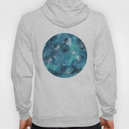 Aries zodiac constellation on the light background Hoody
