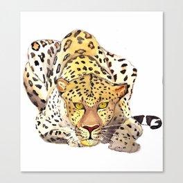 Watercolor leopard Canvas Print