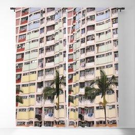 Rainbow Gradient - Choi Hung Estate, Hong Kong Blackout Curtain