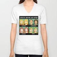 meme V-neck T-shirts featuring Bird meme by Bird gifts for bird folks