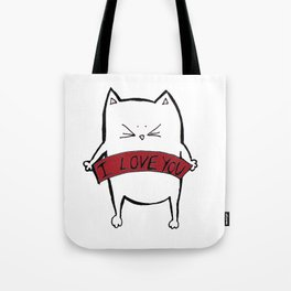 Cat in love Tote Bag