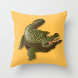 Crocodile - 'A Fantastic Journey' Throw Pillow