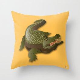 Crocodile - 'A Fantastic Journey' Throw Pillow