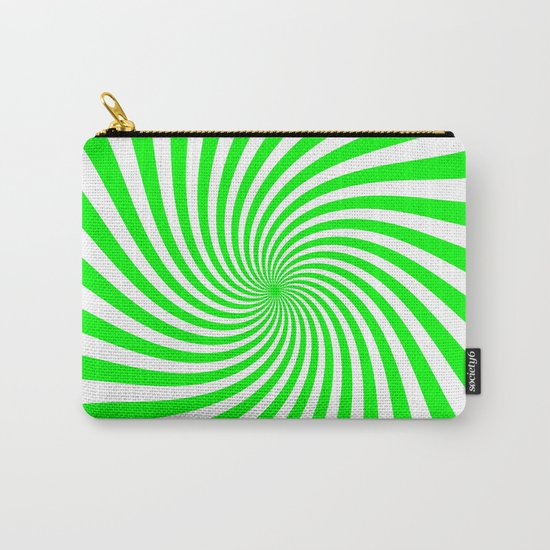 Swirl (Green/White) Carry-All Pouch