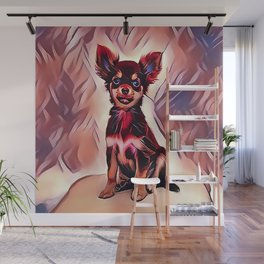 A Long Haired Chihuahua Wall Mural