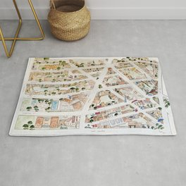 Greenwich Village Map by Harlem Sketches Rug