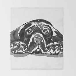 Black Lab - front view Throw Blanket