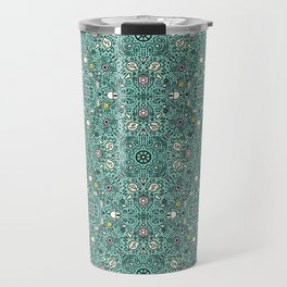 Techy doodle - repeating digital life pattern - in color - computers Serving Tray Travel Mug