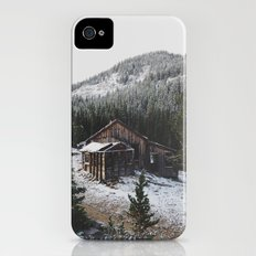 Snowy Cabin Slim Case iPhone (4, 4s)