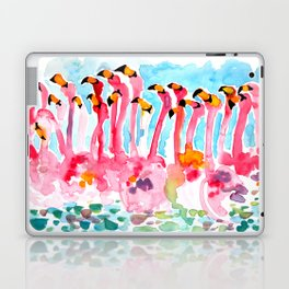 Welcome to Miami - Flamingos Illustration Laptop & iPad Skin