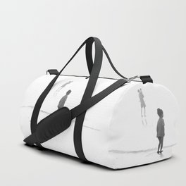Children Looking at the Sea Duffle Bag