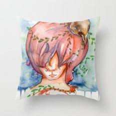 melting slowly Throw Pillow