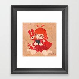 Tablet Girl - Let's Share Framed Art Print