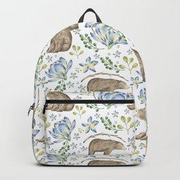 Bears in Blue Flowers Backpack