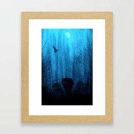 Wolf Pass: Cerulean Mist Framed Art Print