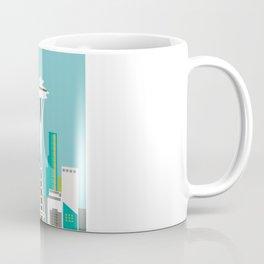 Seattle, Washington - Skyline Illustration by Loose Petals Coffee Mug