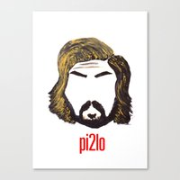 juventus Canvas Prints featuring Pirlo 21 by wearwolves