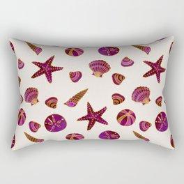 Beach Treasures - Red Rectangular Pillow