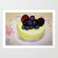 dessert Art Prints featuring Dessert! by Stephanie L Dailey