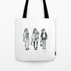 Brush Pen Fashion Illustration - East Coast Girls Tote Bag