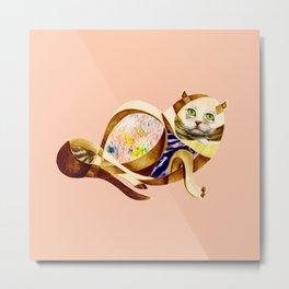 Here Litte Kitty Metal Print