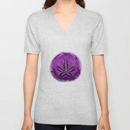 Live Purple Sand Dollar Unisex V-Neck
