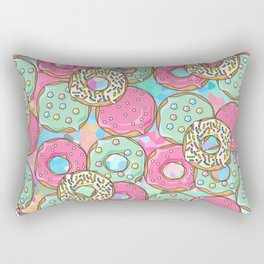 Sweet Donuts Cookies Rectangular Pillow