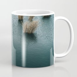 Silent Lake With Dry Reeds Coffee Mug