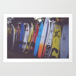 Surf-board-s up Art Print