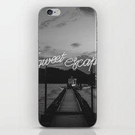 Sweet Escape (Black and White) iPhone Skin