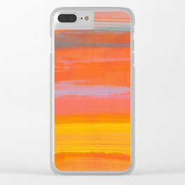paint stripes three Clear iPhone Case