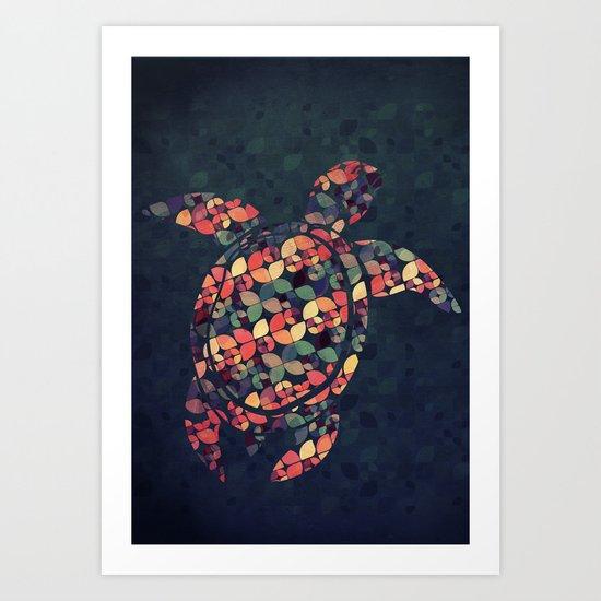 The Pattern Tortoise Art Print