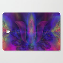 Born of Lotus Abstract Art Cutting Board