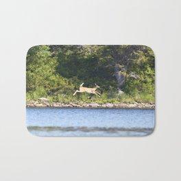 Watercolor Deer, Eastern Whitetail 04, Kejimkujic, Nova Scotia, Canada, The Chase Bath Mat