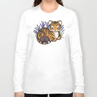 platypus Long Sleeve T-shirts featuring Loafing Tiger, Hidden Platypus by Spoopy Surprise