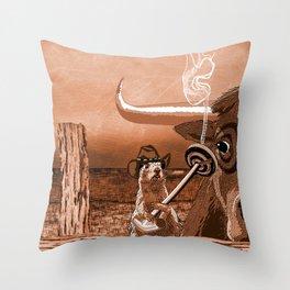 Bulls Eye Throw Pillow