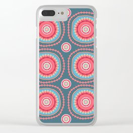 suzani abstracted Clear iPhone Case