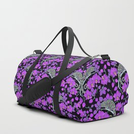 Chameleons and orchids (Gothic) Duffle Bag