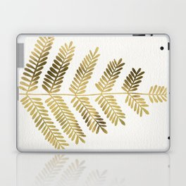 Gold Leaflets Laptop & iPad Skin