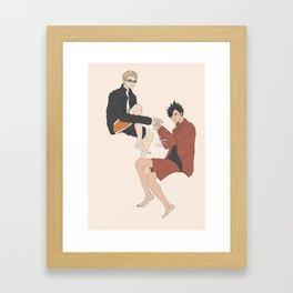Haikyuu!! - Kurotsuki 9 Framed Art Print