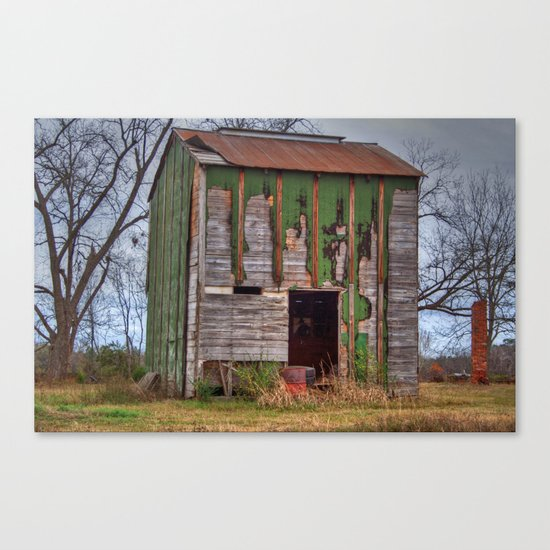 Old Dilapidated Barn 2 Canvas Print
