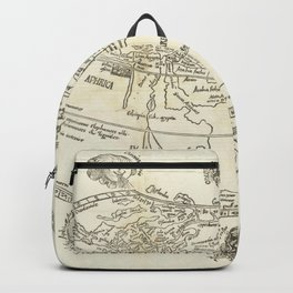 Vintage Map Print - 1503 map of the world by Gregor Reisch Backpack