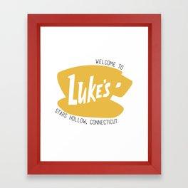 Lukes Diner Framed Art Print