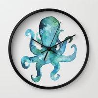 arya stark Wall Clocks featuring Earl by Okti