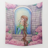 rapunzel Wall Tapestries featuring Rapunzel by marquisdusoleil