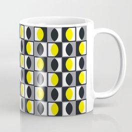Geometric Pattern 216 (yellow gray curves) Coffee Mug