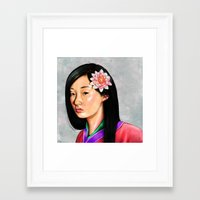 mulan Framed Art Prints featuring mulan by Anja-Catharina